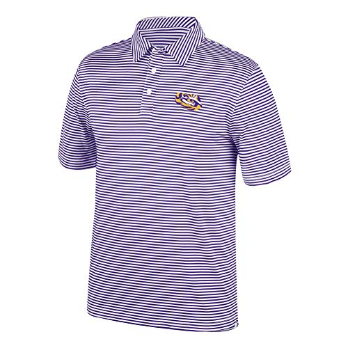 (Top of the World NCAA Men's Lsu Tigers Team Color Stretch Bunker Polo Purple)