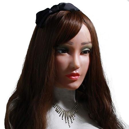 FHSGG Realistische Silikon Weibliche Maske für Crossdresser Cosplay Maskerade Shemale Masken Handgefertigte Gesicht für Trans