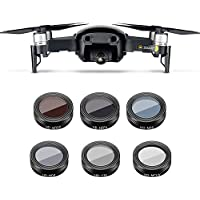 Anbee Mavic Air Camera Lens Filter 6-Pack, Multi-coated UV CPL ND4 ND8 ND16 ND32 Set for DJI Mavic Air Drone