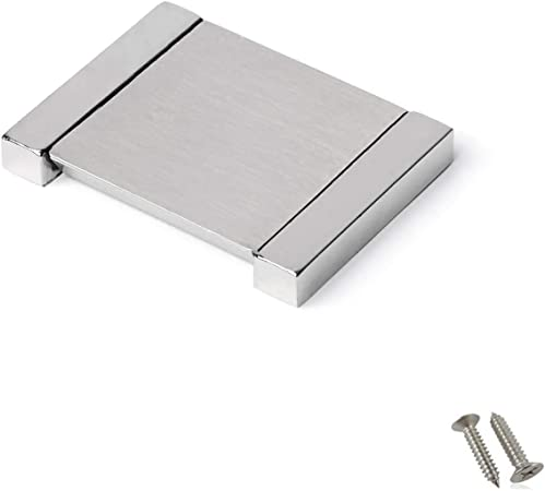1X Recessed Sliding Doors Handle Flush Pull Zinc Alloy Brushed Finish Practical