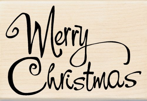 Amazon.com: Inkadinkado Whimsical Merry Christmas Wood Stamp: Arts ...