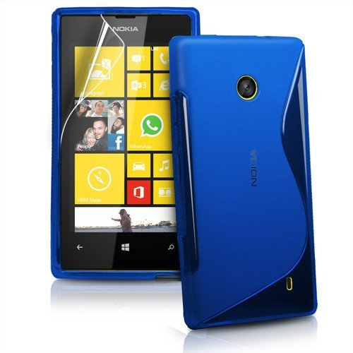 newest 12b81 75897 TOTOOSE Case Nokia Lumia 520 Durable Protective Case, Slim Back Cover  Personality Design Clear TPU Case Back Cover for Nokia Lumia 520 - Blue