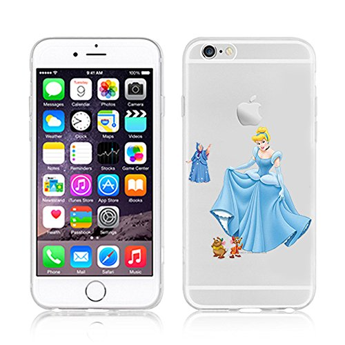 NEW DISNEY PRINCESSES TRANSPARENT CLEAR TPU SOFT CASE FOR APPLE IPHONE 7 - CINDERELLA 3