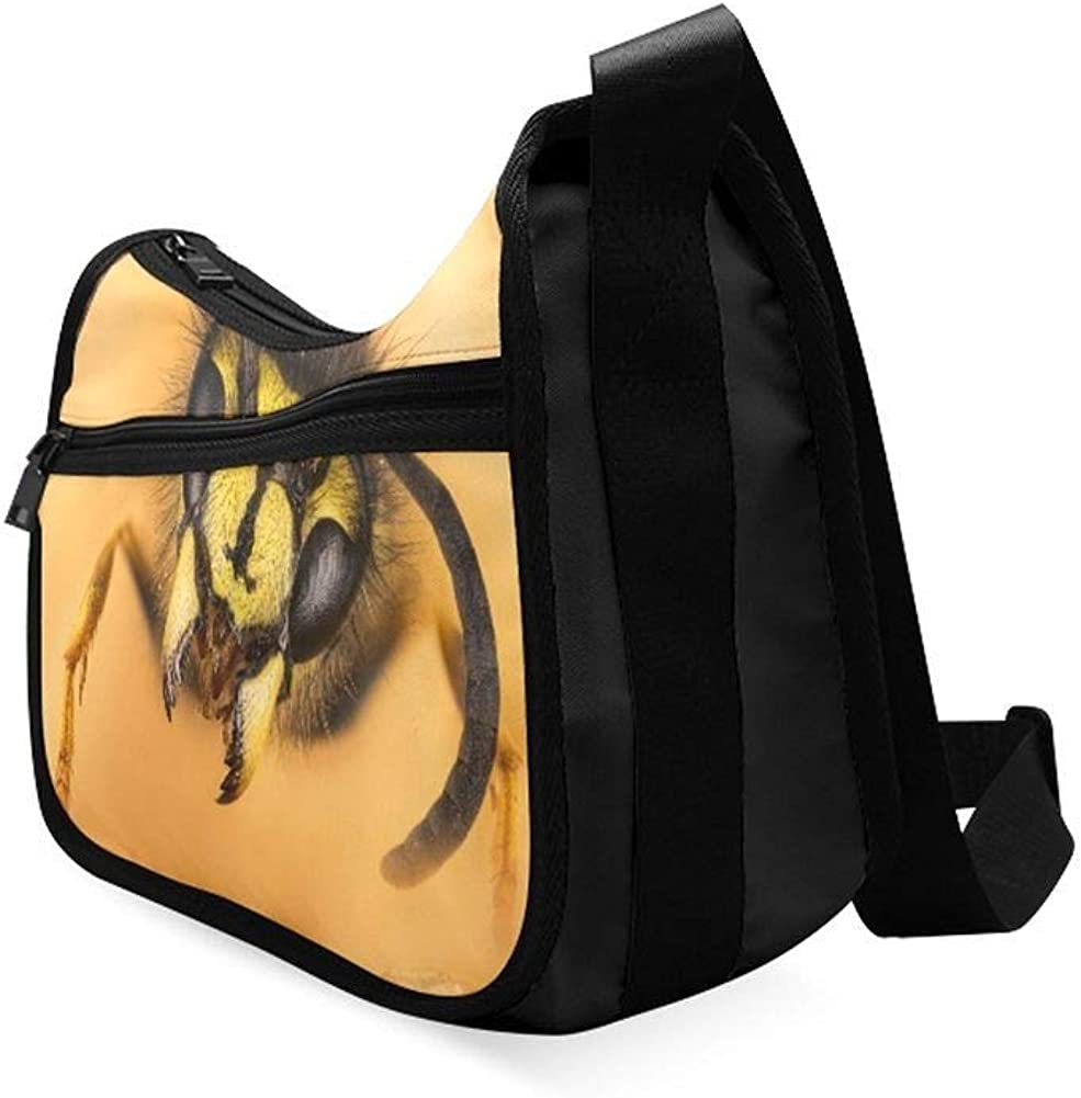 A European Wasp Pattern Messenger Bag Crossbody Bag Large Durable Shoulder School Or Business Bag Oxford Fabric For Mens Womens