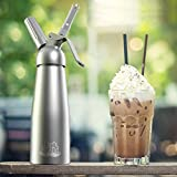 Chef Quality Whipped Cream Dispensers / Cream Whipper, 1 Pint / Safety / Leak-Free / With 3 Stainless Steel Decorating Nozzles / By Chef's Brand