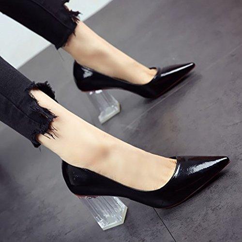 di primavera donna FLYRCX scarpa in a Europea punta tacchi scarpe lavoro personalità a partito sexy da estate alti pelle w5FC5q0