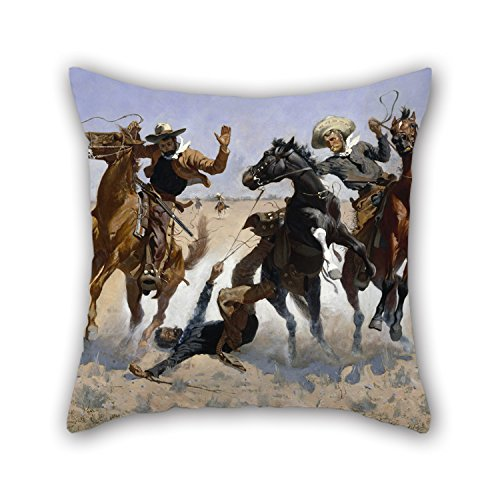 [Loveloveu Throw Cushion Covers Of Oil Painting Frederic Remington - Aiding A Comrade 20 X 20 Inches / 50 By 50 Cm,best Fit For Bedroom,home Theater,club,kids Room,seat,club Double] (Wreck It Ralph Costume For Girls)