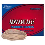 "Alliance Rubber 26649 Advantage Rubber Bands Size #64, 1/4 lb Box Contains Approx. 80 Bands (3 1/2"" x 1/4"", Natural Crepe)"