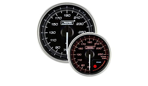Prosport Universal 52mm Supreme Electrical Water Temperature Gauge 70 to 250 F