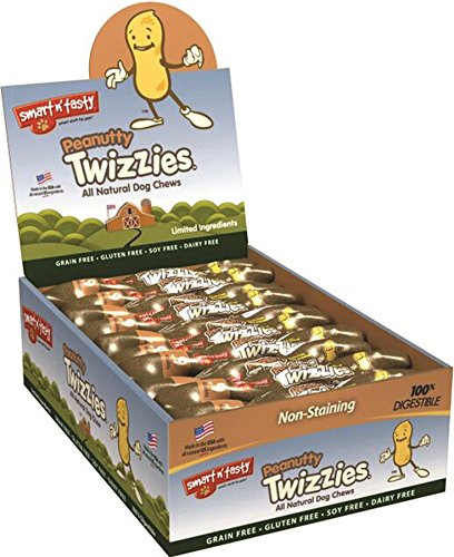 Emerald Pet Products Inc-Smart N Tasty Peanutty Twizzies- Peanut 6 Inch/30 Count by EMERALD PET PRODUCTS