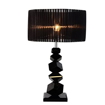 Amazon Com Momo Tischlampe Modern Simple Black Crystal