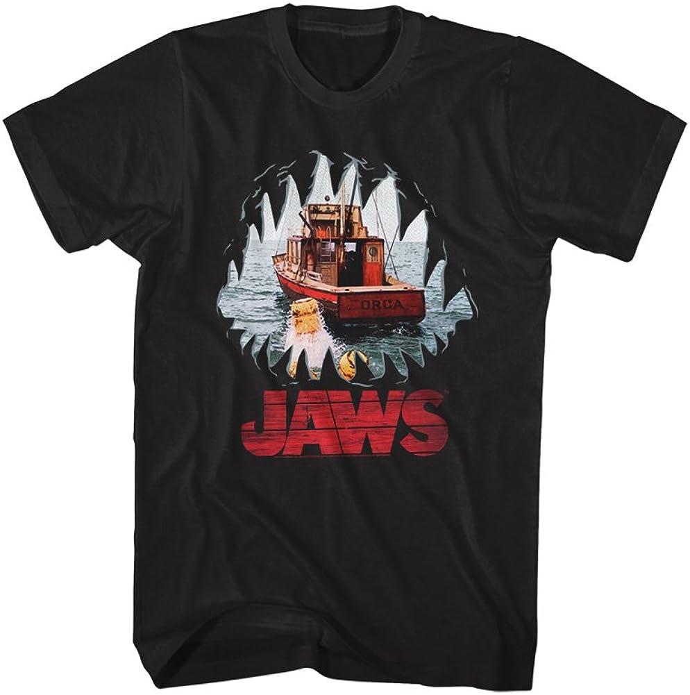 Jaws Shark Thriller Spielberg Movie Amity Island�Teeth POV Adult T-Shirt Tee Black