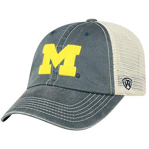 - Top of the World NCAA Michigan Wolverines Men's Vintage Mesh Adjustable Icon Hat, Navy