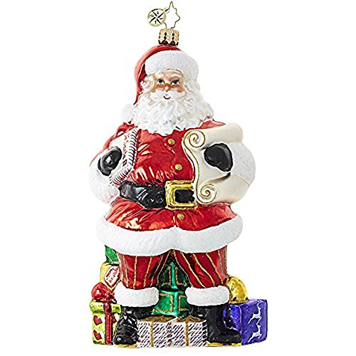Christopher Radko Checking It Twice Santa Designer's Choice Christmas Ornament (Designer Ornaments Christmas)
