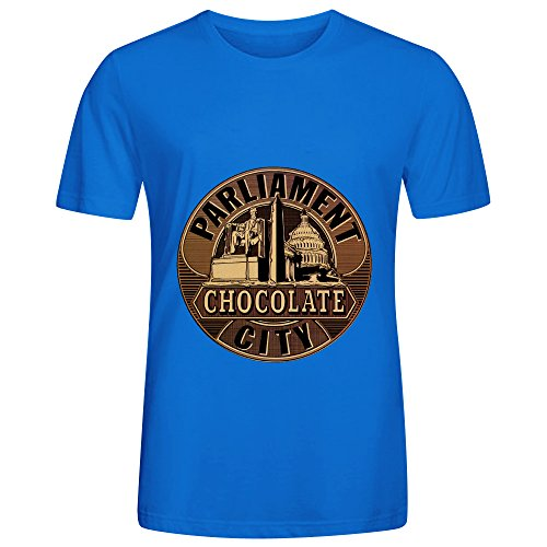Parliament Chocolate City Jazz Men O Neck Customized Shirts Blue (Booty Girl Pirates)