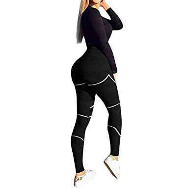 af01419ba8eeb Women's High Waist Yoga Pants Butt Lifting Tummy Control Slimming Booty  Leggings Workout Running Leggings Tights
