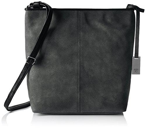 Tom Tailor Denim Mila - Shoppers y bolsos de hombro Mujer Negro (Schwarz)