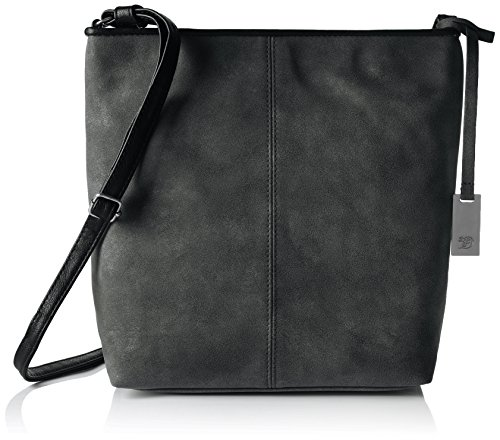 Tom Tailor Denim Mila, Women's Shoulder Bag, Schwarz, 11 x 25 27 cm (wxhxd) (Denim Schwarz)