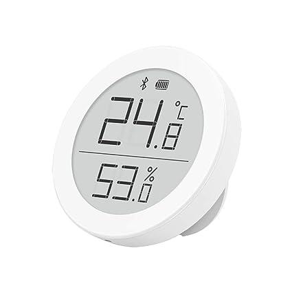 Mini Runde Digital LCD Innen Temperatur Hygrometer Thermometer für Auto Haus