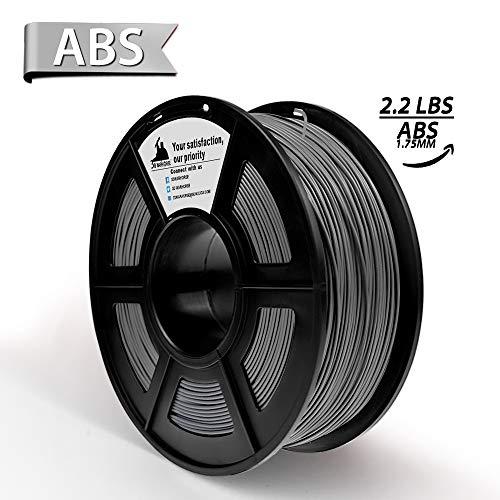 3D Hero Gray ABS 3D Printer Filament 1.75mm, 1KG Spool(2.2lbs),3D Printing Filament Dimensional Accuracy +/- 0.02mm- NO Clogging