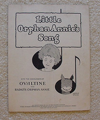 little-orphan-annies-song-1931-sheet-music-key-1st-ovaltine-premium-ori-vg