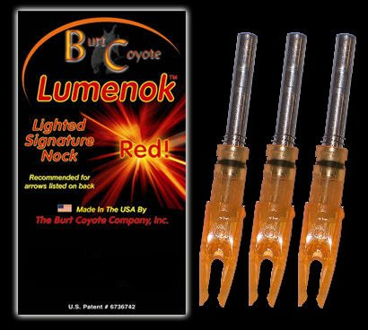 Lumenok Signature Nock (3-Pack), Orange