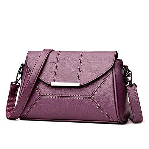 DHFUD Bolso Bandolera Pequeña Para Mujeres Diagonal Fashion Purple