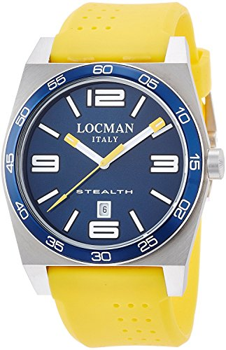 LOCMAN watch stealth Taki metric quartz Men's 0208 020800BBLWHYSIY Men's [regular imported goods]