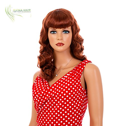 ENJOY THE DIFFERENCE PIN UP Wig for Woman Costume Party 1940'S Halloween Black Blonde Auburn (130) -