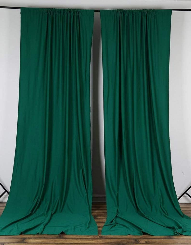 """lovemyfabric 100% Polyester Window Curtain/Stage Backdrop Curtain/Photography Backdrop 58"""" Inch X 108"""" Inch (1, Hunter Green)"""