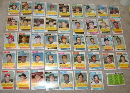 1974 Topps Baseball Card Traded Complete Set 44 Cards Nrmt