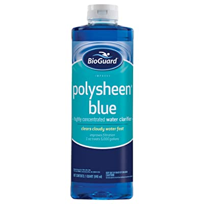 BioGuard Polysheen Blue Clarifier - Quart by BioGuard : Garden & Outdoor