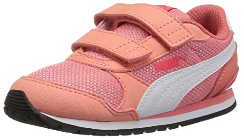 PUMA Baby ST Runner NL Velcro Kids Sneaker, Shell Pink White, 7 M US Toddler ()
