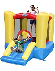ACTION AIR Bounce House, 5x7 Foot Inflatable Bounce Castle with Blower, Kids Mini Bouncy House for Outdoor and Indoor, Durable Sewn with Extra Thick Material, Idea for Kids 3-4 Yrs Old (9309Y)