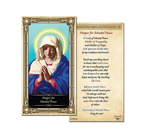 Our Lady of Mental Peace Holy Card - 25 pack - Laminated by ShopCatholic