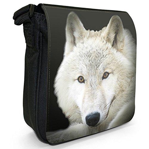 bd7bb6ab19 Wolf Borsa nbsp; Fancy Piccola A Nero Snuggle In Wolves Tela HwBRqT