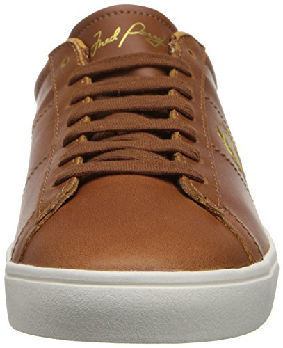 Fred Perry Men's Spencer Oxfords, White, 6 Tan Gold