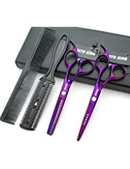 5.5 Inches Hair Scissors with Thinning Comb Hair Cutting...