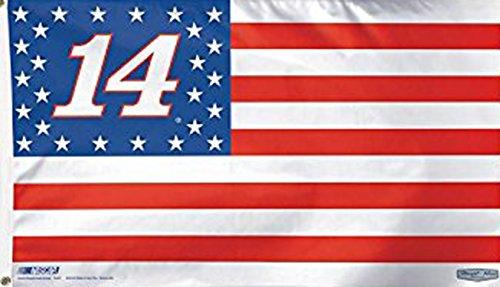 Tony Stewart Stars & Stripes Flag - Deluxe 3' X 5' Foot Nascar #14