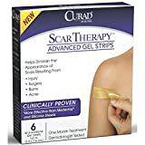 Curad Scar Therapy Advanced Gel Strips 6 Each (Pack of 6)