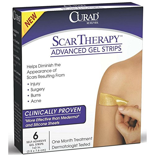 Curad Scar Therapy Advanced Gel Strips 6 Each (Pack of 6) by Curad