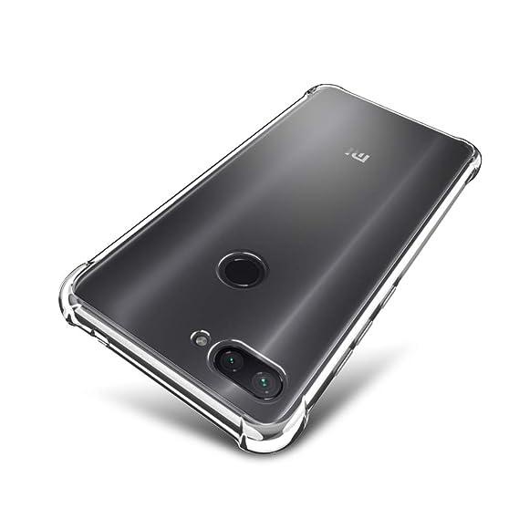 brand new cf52d 31241 Xiaomi Mi 8 Lite Case - SLEO [Air Cushion] Flexible Soft TPU Bumper Case  with Shock-Absorption Back Protective Phone Cover for Xiaomi Mi 8 Lite,  Clear