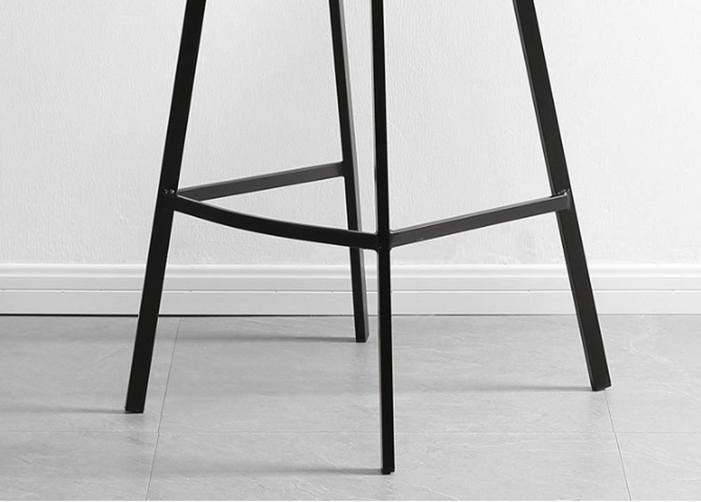 AO-stools Nordic Leisure High Stool Cafe Back Metal Bar Chair Home Restaurant Dining Chair 99x75x43cm by AO (Image #7)