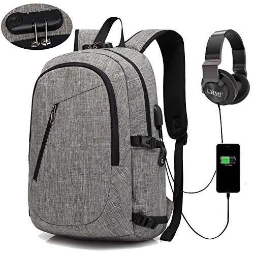 Anti-Theft Backpack, URMI Business Laptop Backpack with USB Charging Port...