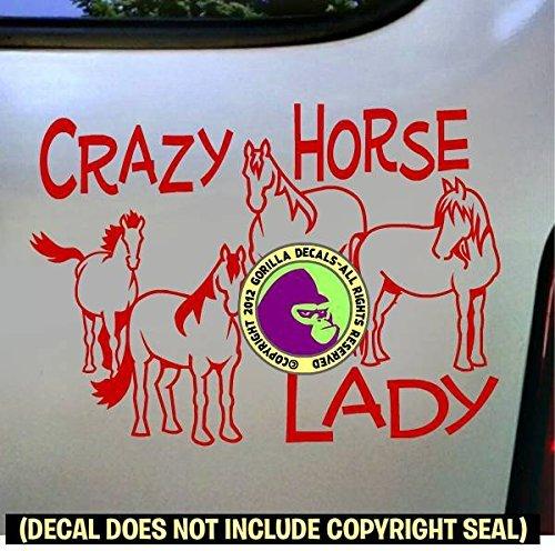 CRAZY HORSE LADY Herd Vinyl Decal Sticker D