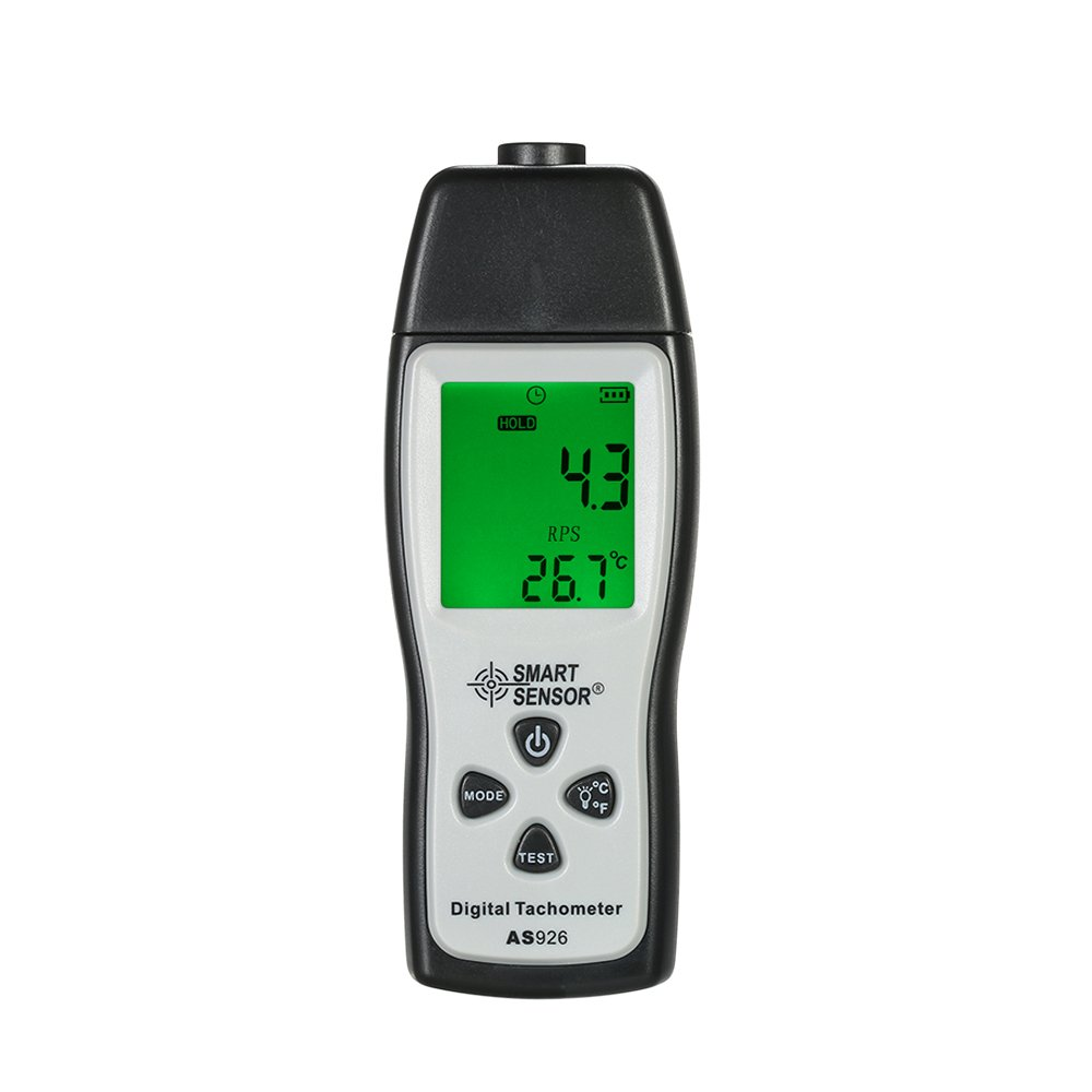 KKmoon Professional Handheld Digital Photo Tachometer Laser Non-Contact Tach Range 100RPM-30000RPM LCD Display Motor Speed Meter with 3pcs Reflective Tape