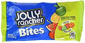 JOLLY RANCHER Sours Soft & Chewy Candy (Orange, Watermelon, Green Apple,Cherry), 2 Ounce Package (Pack of 48)