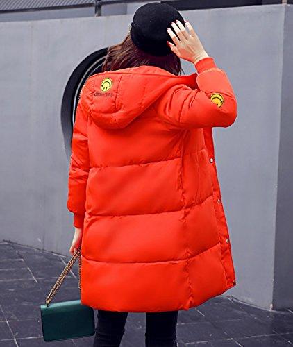 chaqueta Parka larga Capucha Naranja de Mujeres acolchado algodón COMVIP Abrigo de invierno vq1Xqa