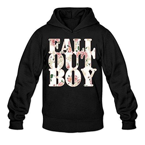 [CYANY FOB Rock Band Music Logo FLORAL Women's Best Graphic Hoodies Sweatshirt MBlack] (Lone Ranger Costume Shirt)