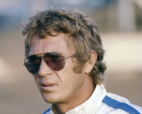 Steve McQueen iconic wearing Persol sunglasses & racing driver suit 16x20 - Racing Xx Sunglasses